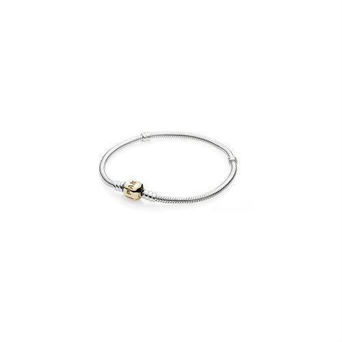 2018 Pandora Silver Bracelet with Gold Clasp 590702HG